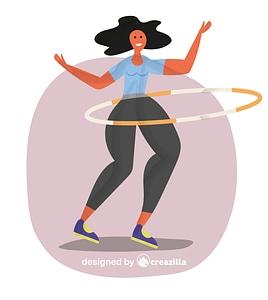 Hula hoop vector
