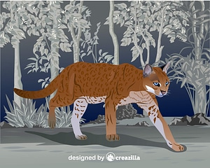 African Golden Cat vector