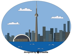 CN Tower vector