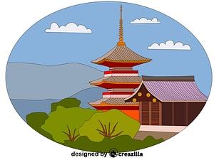 Векторное изображение: Kiyomizu-dera