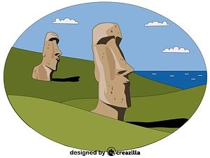 Векторное изображение: Moai