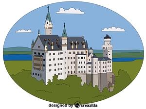 Векторное изображение: Neuschwanstein