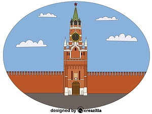 Spasskaya Tower vector