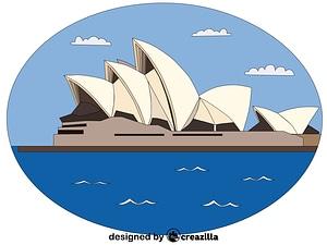 Векторное изображение: Sydney Opera House