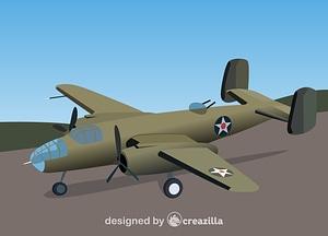 B-25B Mitchells vector