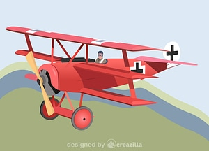 Red Baron's Fokker Dr vector