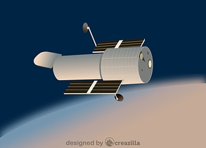 Vector de Hubble telescope