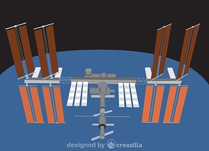 Vector de International Space Station (ISS)