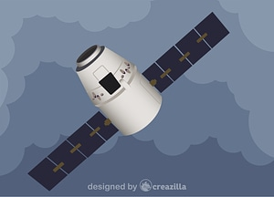 Vector de SpaceX Dragon