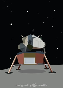 Vector de Apollo 11 Lunar Module Eagle