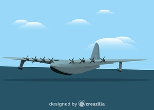 Hughes H-4 Hercules Spruce Goose vector