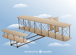 Vector de Wright Flyer