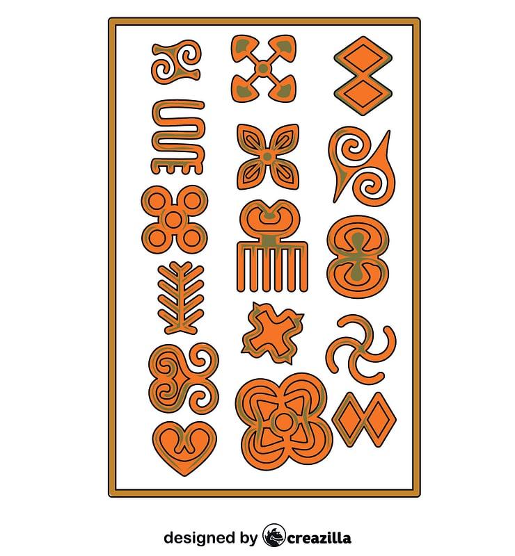 Grafika wektorowa: Symbole afrykańskie Adinkra