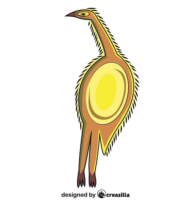 Aborginal Art Emu Bird vector