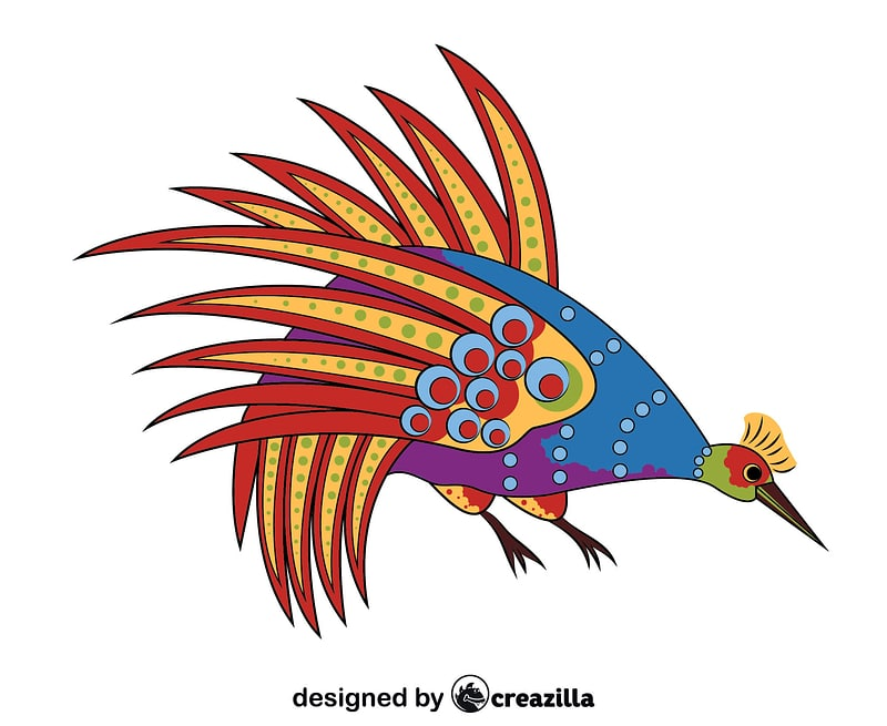 Aboriginal Art Bowerbird vector