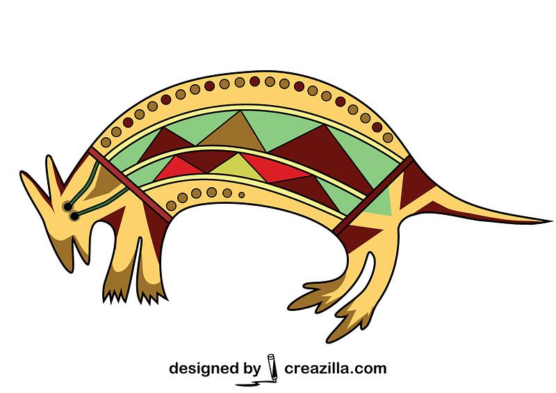 Aboriginal Art Kangaroo vector