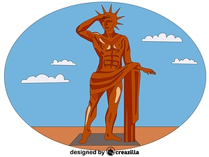 Colossus of Rhodes vector