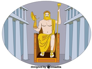 Statue of Zeus at Olympia vector