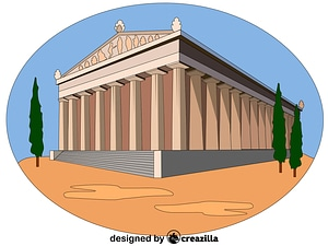 Temple of Artemis vector