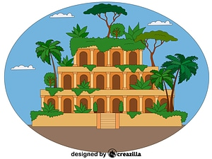 Hanging Gardens of Babylon vector