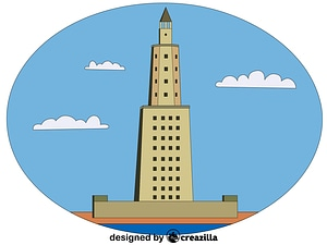 Lighthouse of Alexandria vector