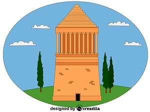 Mausoleum at Halicarnassus vector