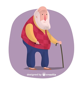 Oldman vector