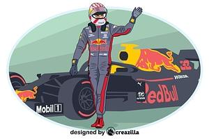 Formula 1 winner vector
