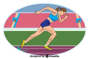 Track and field vector
