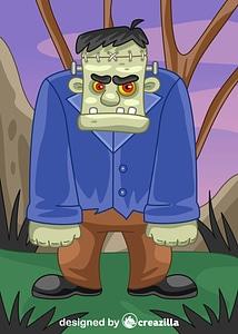 Immagine vettoriale di Frankenstein