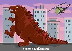 Immagine vettoriale di Godzilla