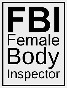 Female Body Inspector Poster vector