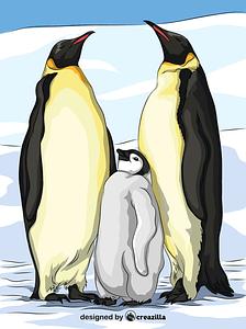 The Emperor Penguins vector