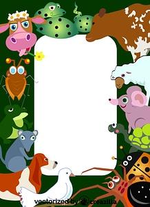 Animals Wild Life border vector