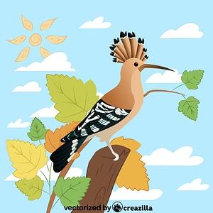 Eurasian hoopoe vector
