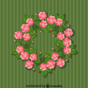 Wreath Flowers Romantic vector