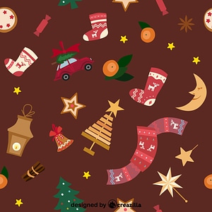 Christmas background pattern vector