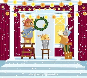 Christmas nativity vector