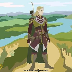 Fantasy Elf vector
