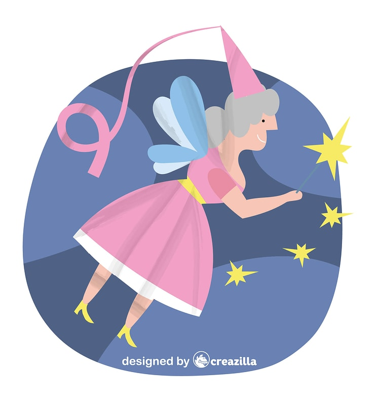 Fairy doing magic vector