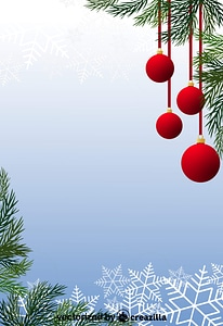 Christmas Baubles and Christmas Tree vector