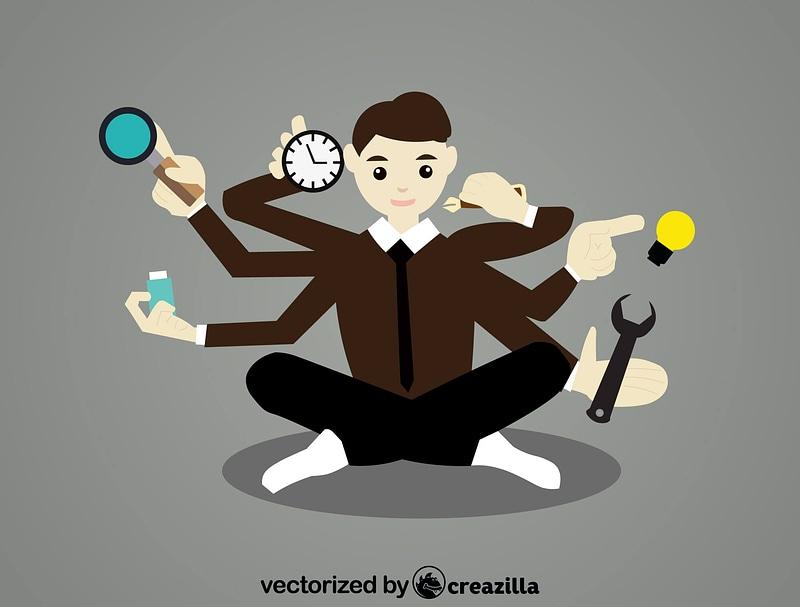 Busy Man vector