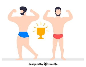 Bodybuilding competition vector