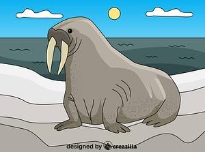 Walrus ベクターイメージ狐