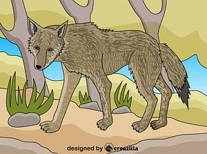 Wolf ベクターイメージ狐