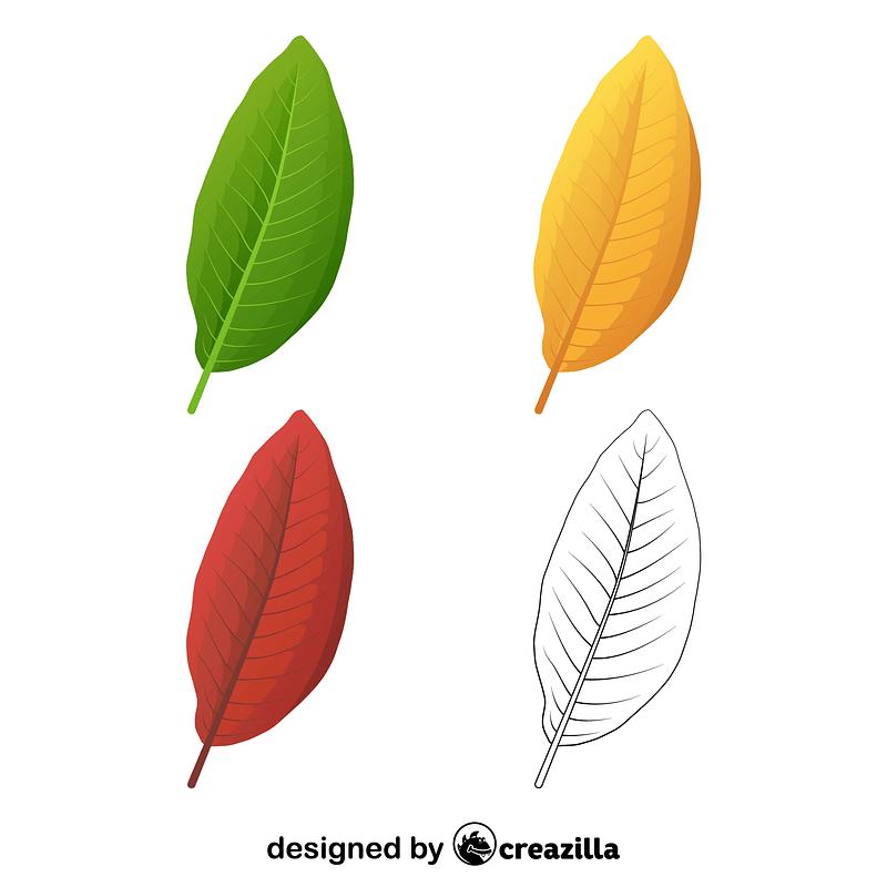 Shingle oak leaves vector