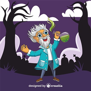 Evil Scientist vector