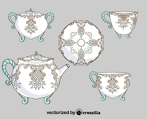 Chinese porcelain vector