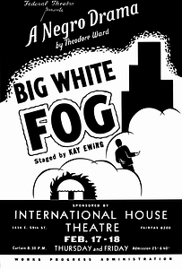 Big White Fog Poster vector