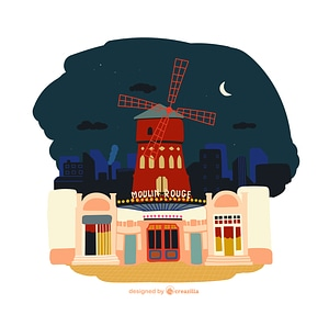 Moulin Rouge vector
